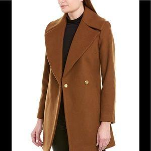 TRINA TURK Berverlee Wool Blend Wrap Coat